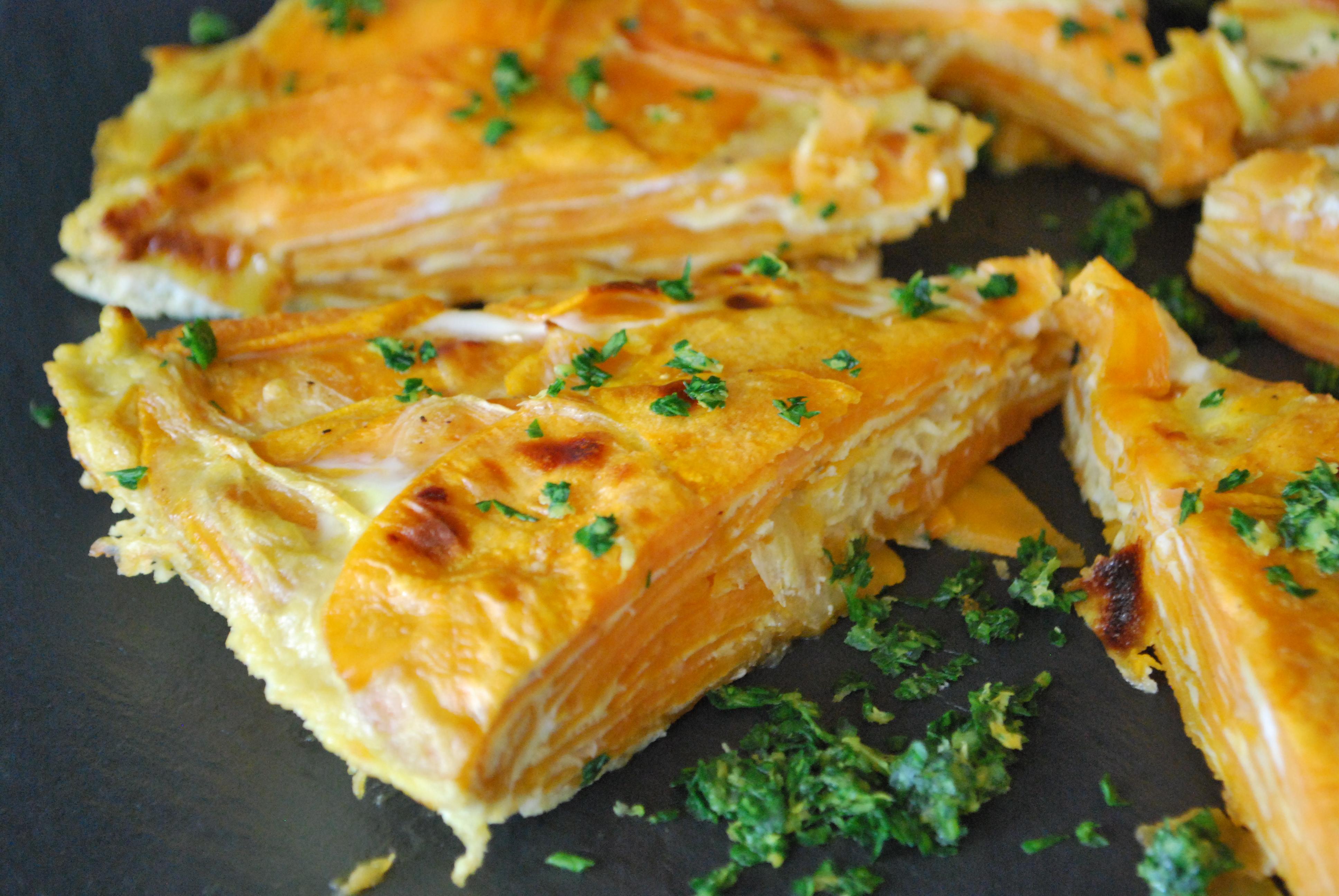 Tortilla Espanola with Gremolata and Saffron Aioli