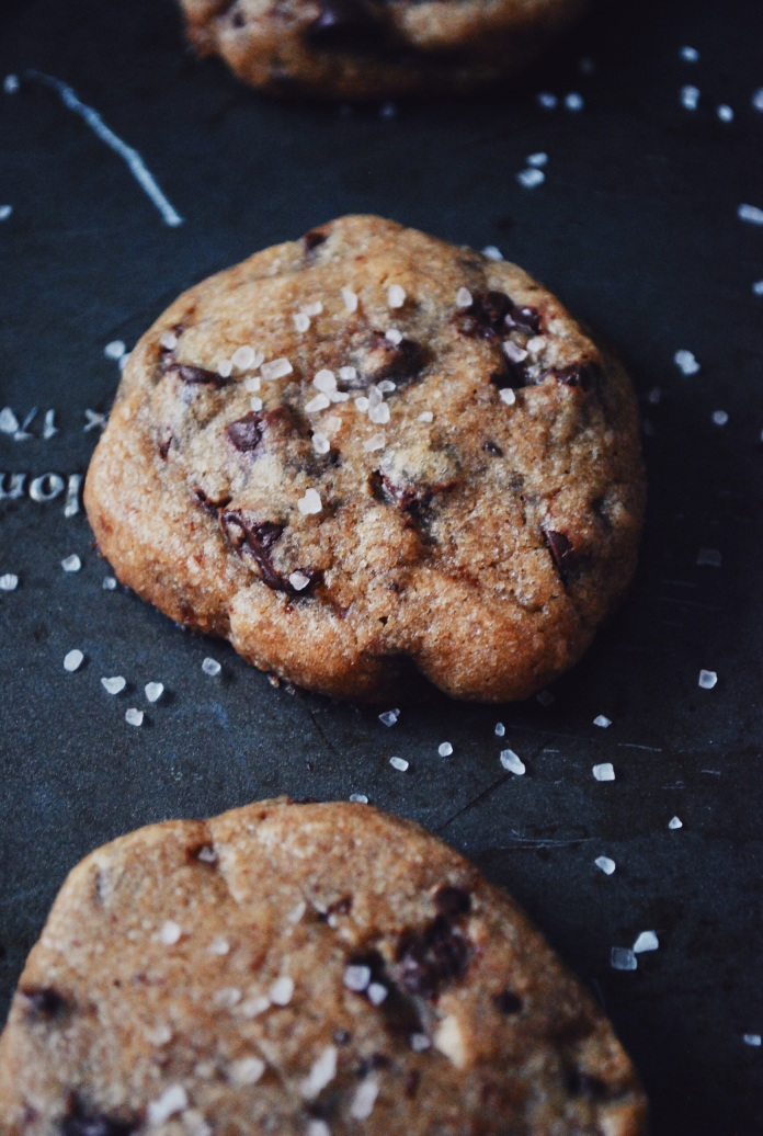 Brown Butter Salted Chocolate Chip Cookies [Frugal Food Series | Tip 9: Treats] // Keeping Willow