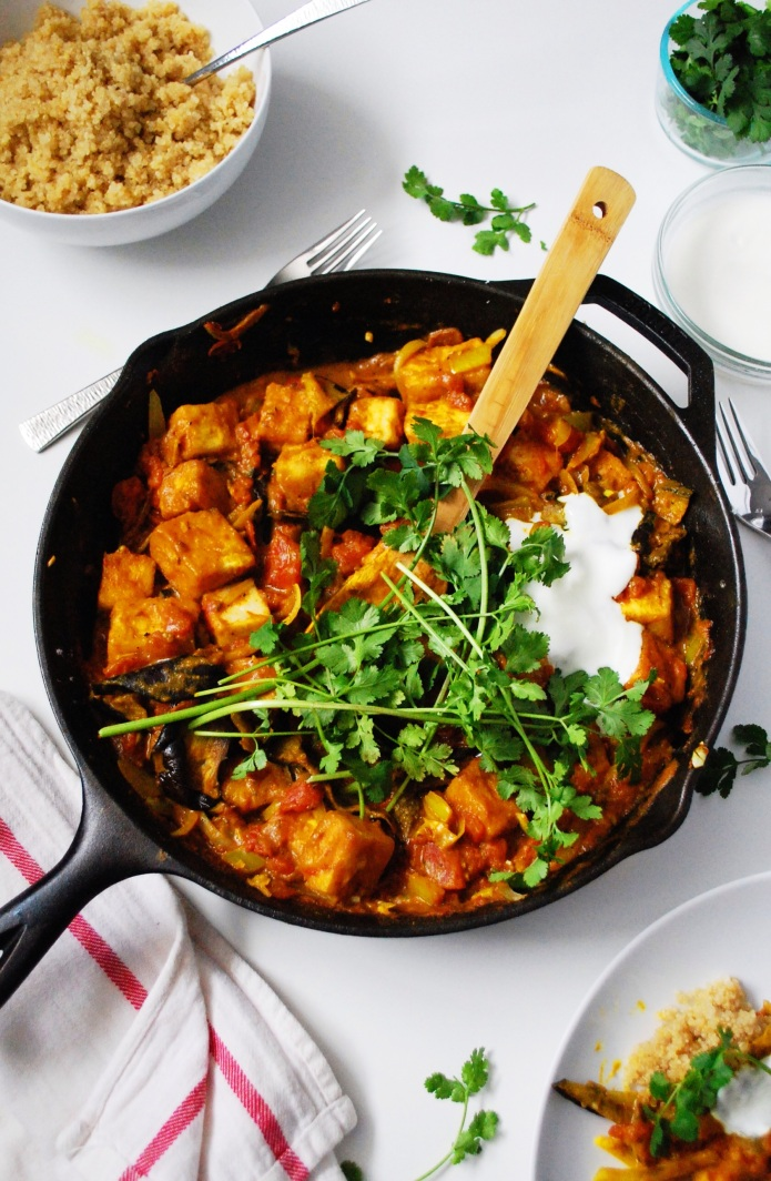 Indian Roasted Eggplant and Tofu Curry // Keeping Willow