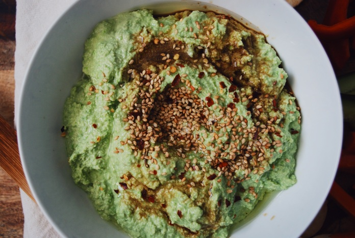 Sesame Edamame and Avocado Dip.  Simple.  Healthy. Delicious // Keeping Willow